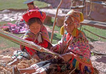Backstrap Weavers In Sacred Valley
