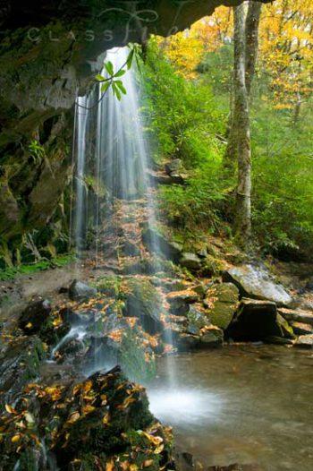 Behind Grotto Falls