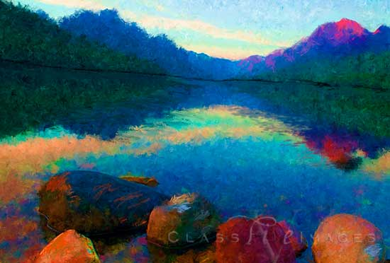 Bowman Lake Painting 550