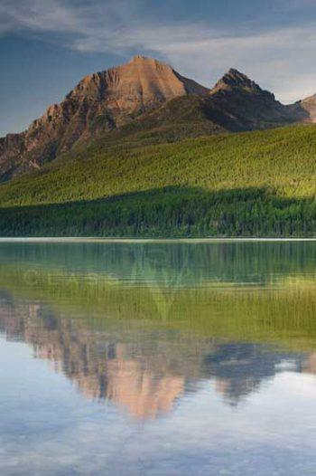 Bowman Lake Reflection