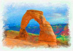 Delicate Arch Watercolor 250
