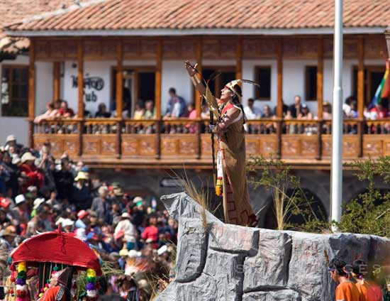Inti Raymi Inca King In Plaza Arams 550