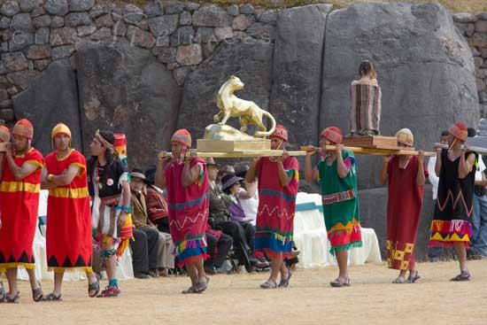 Inti Raymi Sacsayhuaman Procession 550