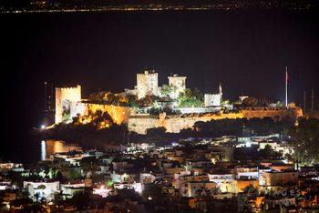 Bodrum St. Johns Castle Night