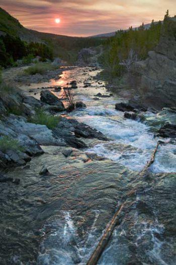 Swiftcurrent Stream Smoky Sunrise